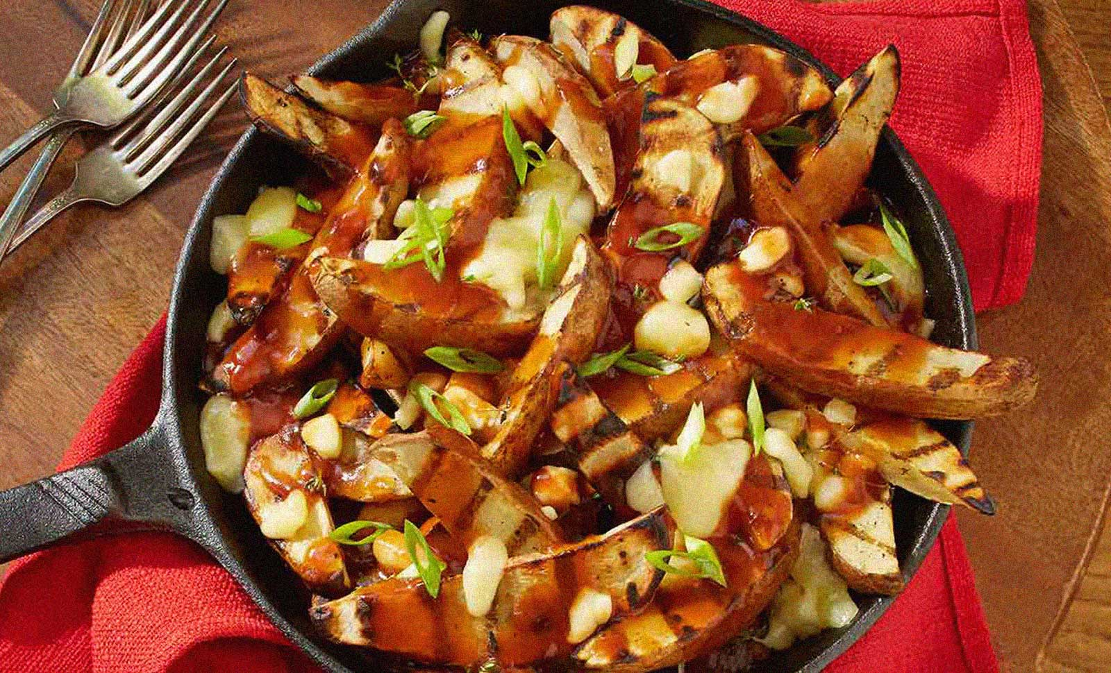 Gourmet grilled poutine.