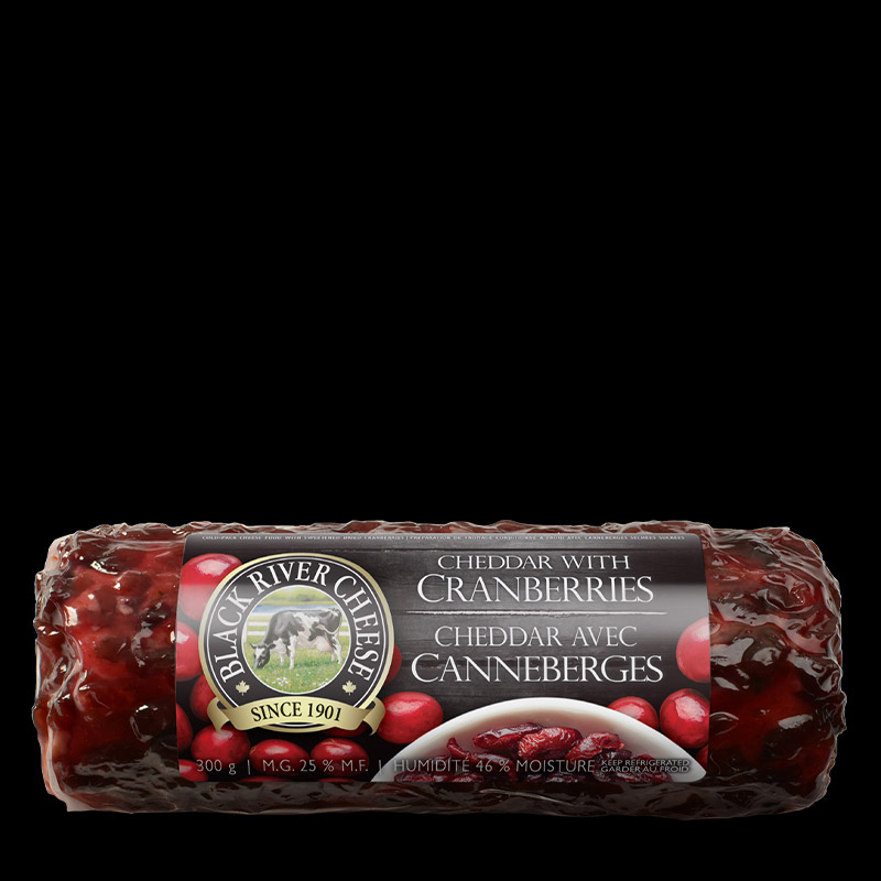 Packed photo of Cheddar Cheese Log with Cranberries