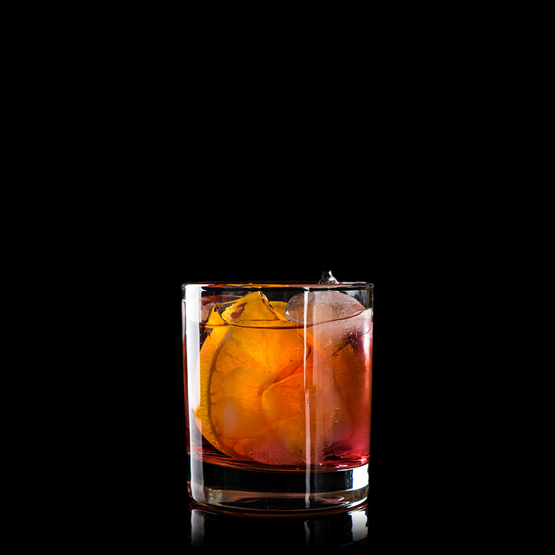 Image of a whiskey old fashioned cocktail
